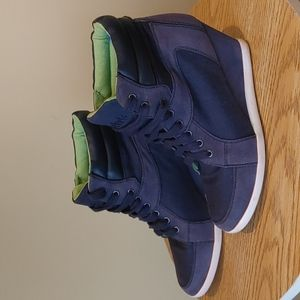 Rebels Boot womens wedge ankle Boots Navy size 7.5